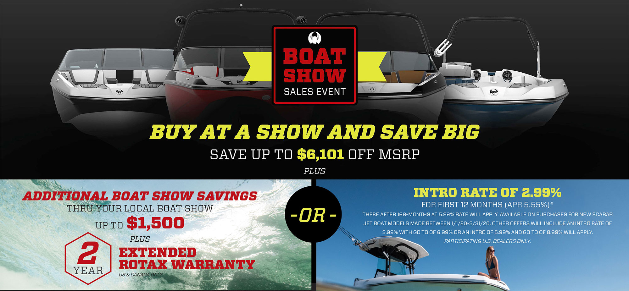2020 Scarab Boat Show Promotion