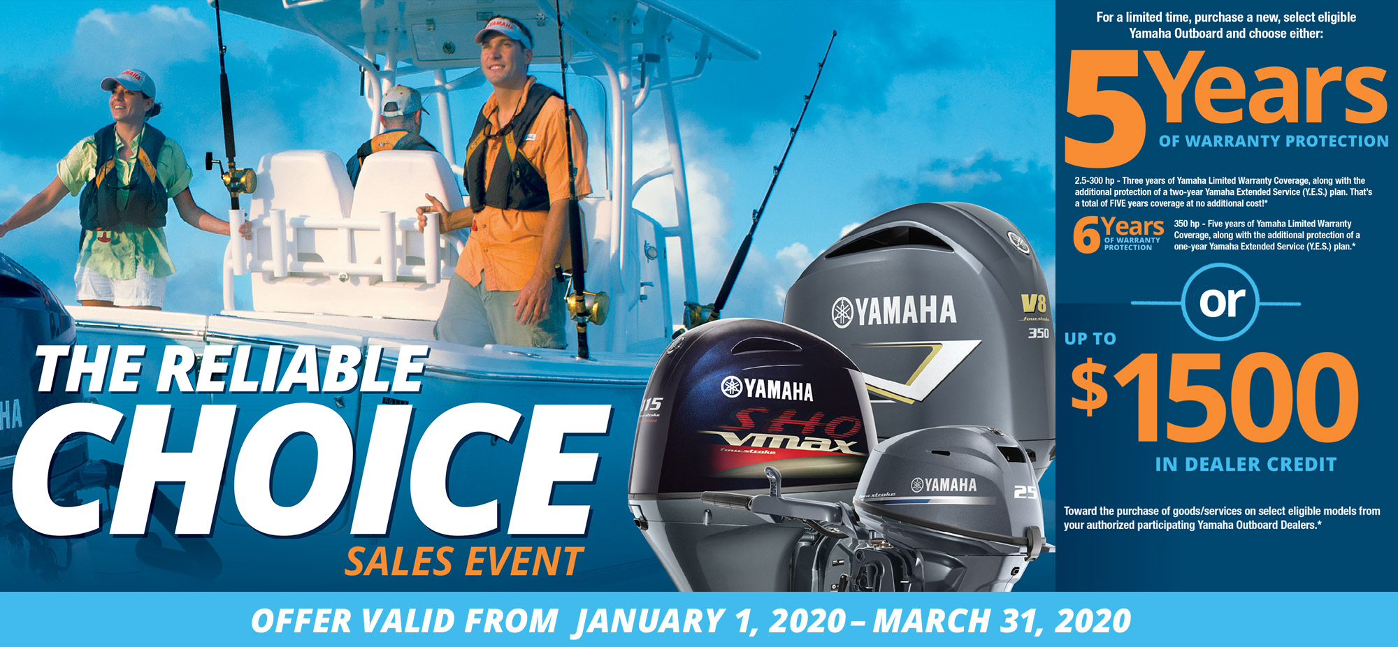 Yamaha 2020 Reliable Choice Sales Event