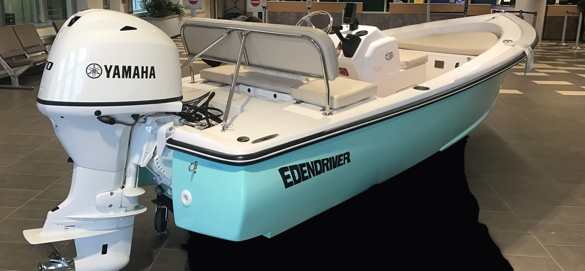 Edendriver by Puffin Boat Company at the Airport